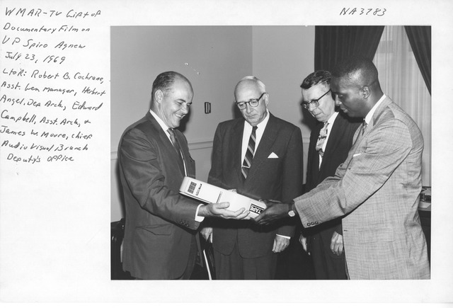 Photograph of Gift of Spiro Agnew Documentary