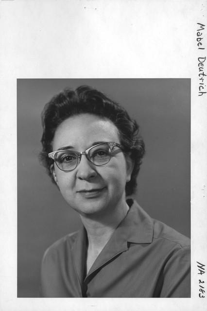 Photograph of Mabel Deutrich