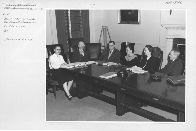 Photograph of Mabel Deutrich's Ph.D. Examining Board