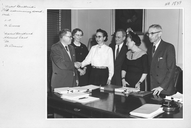 Photograph of Mabel Deutrich's Ph.D. Examining Board Oral Exam