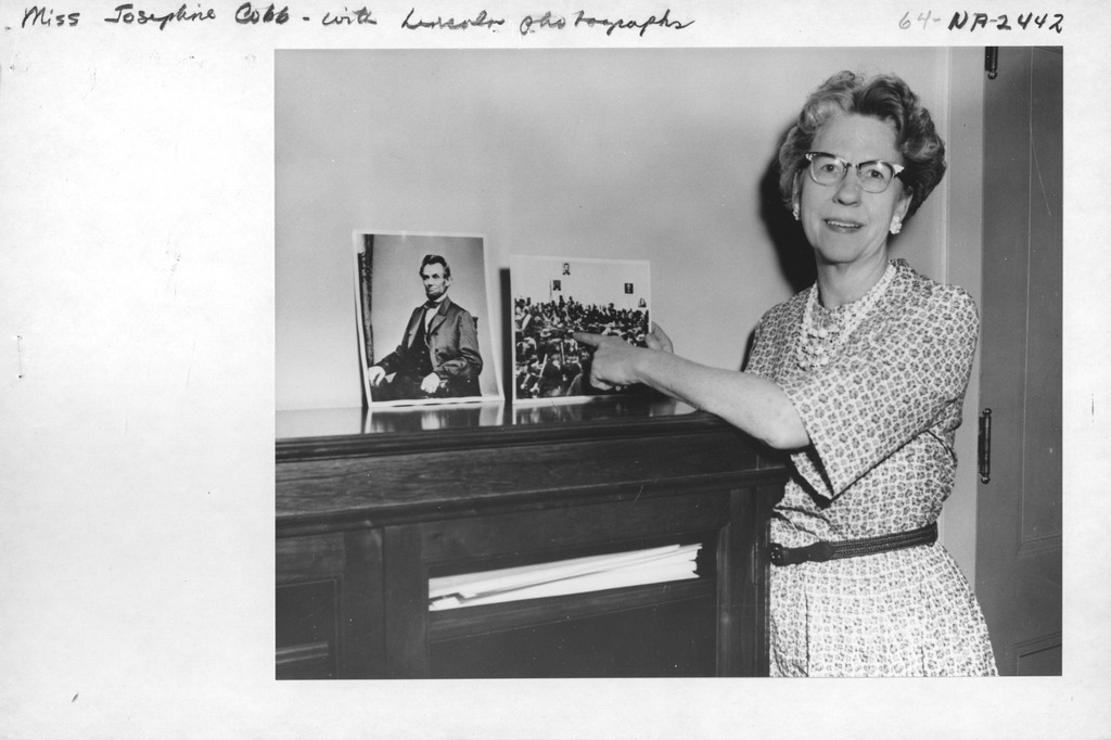 Photograph of Miss Josephine Cobb with Lincoln Photographs