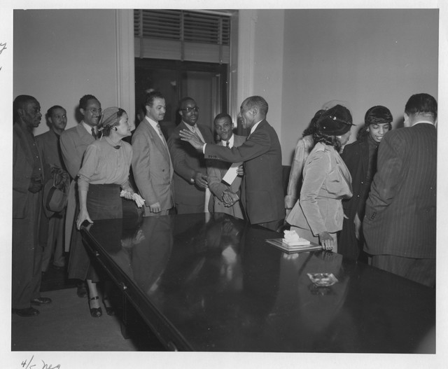 Photograph of Mr. Caldwell's Retirement Ceremony from the National Archives