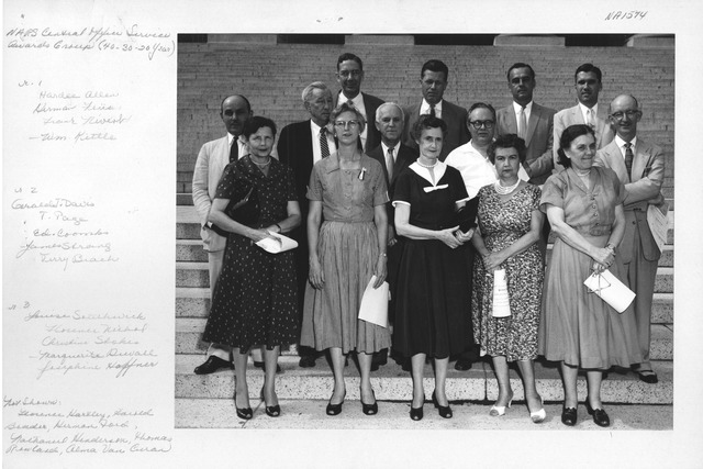 Photograph of National Archives and Records Service Central Office Service Awards Group (40, 30, and 20 Year)