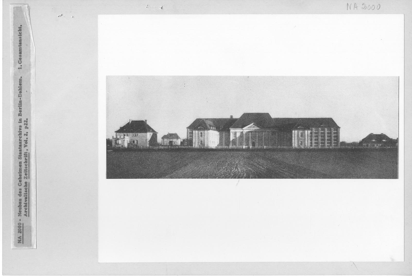 Photograph of Neubau des Geheimen Staatsarchivs in Berlin-Dahlem