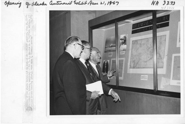 Photograph of Opening of Alaska Centennial Exhibit