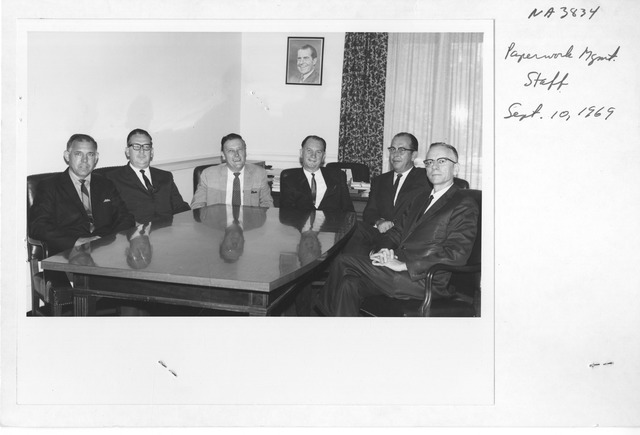 Photograph of Paperwork Management Staff