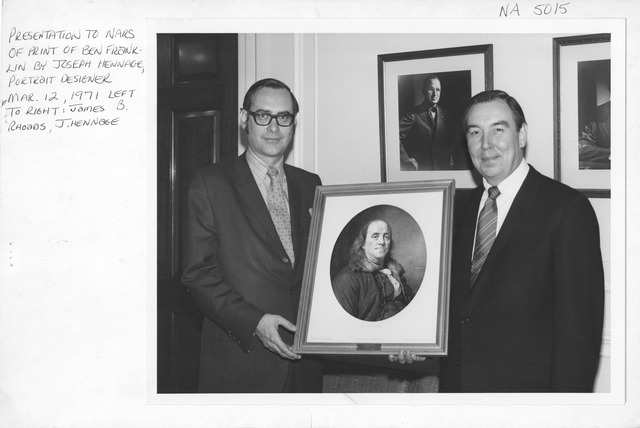 Photograph of Presentation to NARS of Benjamin Franklin Print