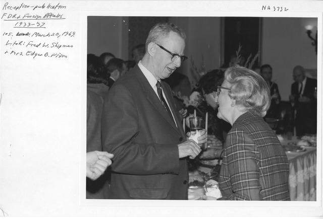 Photograph of Reception for Publication of Franklin D. Roosevelt and Foreign Affairs, 1933-1937