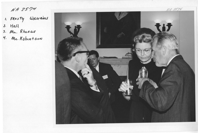 Photograph of Reception for the Conference on the National Archives and Statistical Research