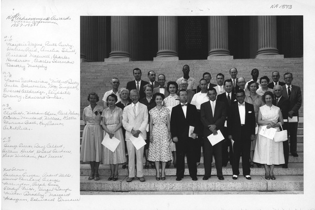Photograph of Recipients of National Archives Achievement Awards, 1957-1958