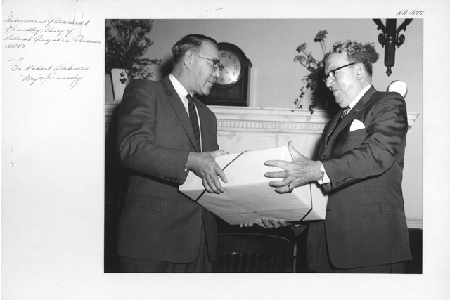 Photograph of Retirement of Bernard R. Kennedy, Chief Federal Register Division, National Archives and Records Service