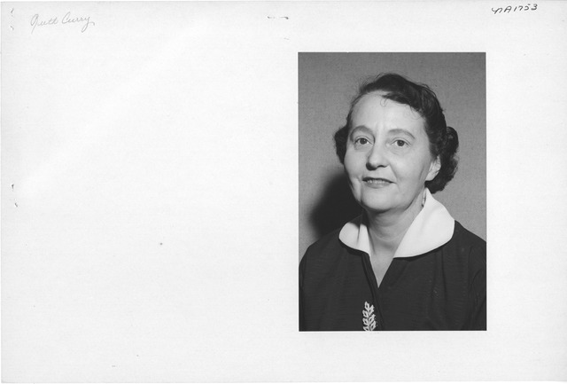 Photograph of Ruth Curry