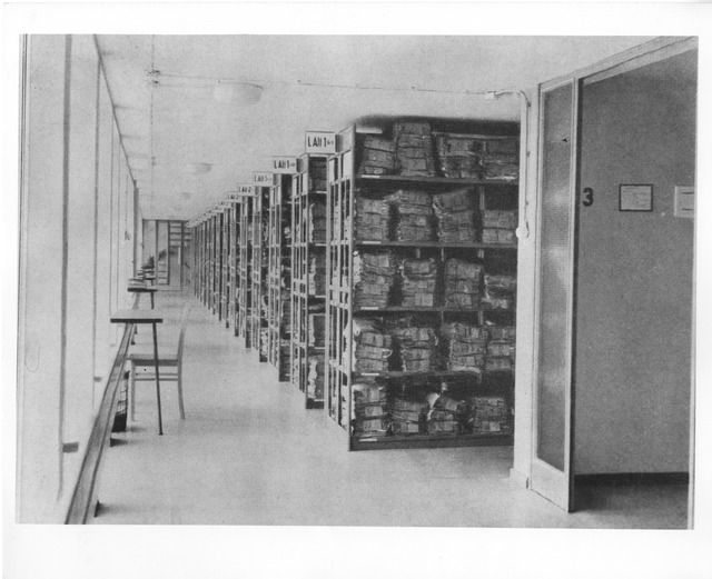 Photograph of Stack Area of Archives in Germany