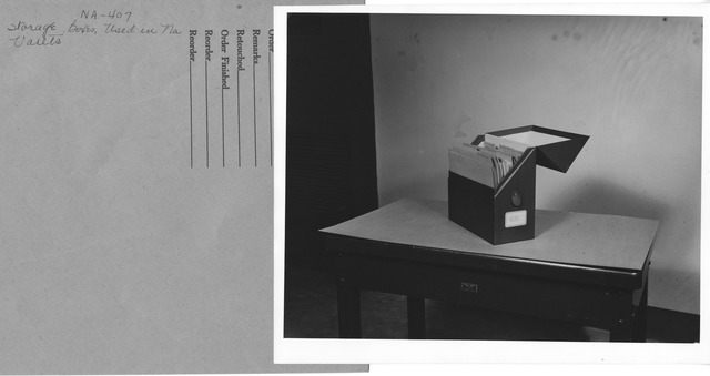 Photograph of Storage Boxes, Used in National Archives Stack Area