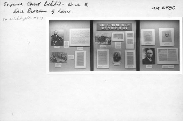 Photograph of Supreme Court Exhibit Case 5, Due Process of Laws