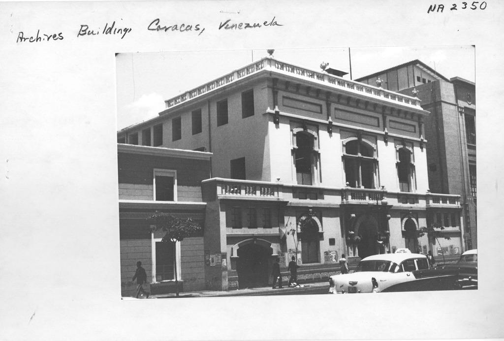 Photograph of the Archives Building, Caracas, Venezuela
