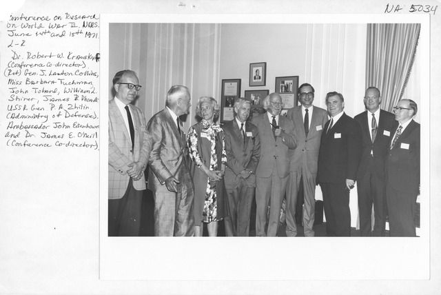 Photograph of the Conference on Research on the Second World War