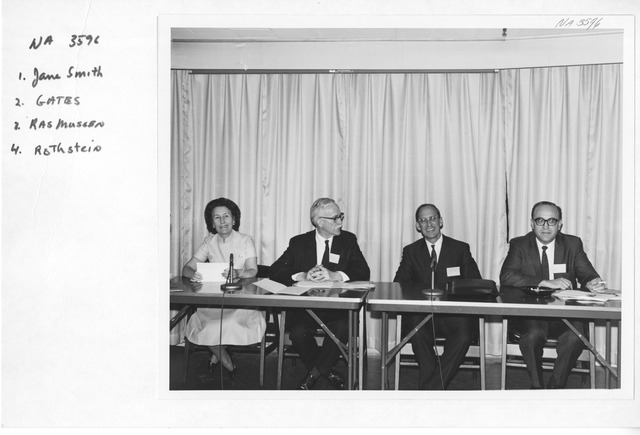 Photograph of the Conference on the National Archives and Statistical Research
