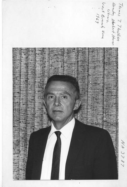 Photograph of Thomas T. Thalken