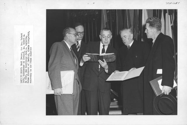 Photograph of Visit of Irish Officials
