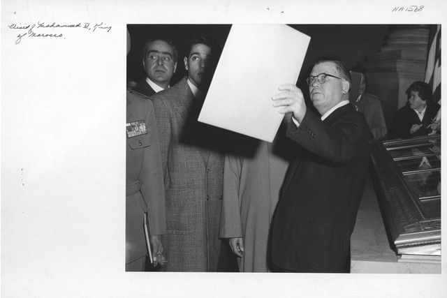 Photograph of Visit of Mohammed V, King of Morocco