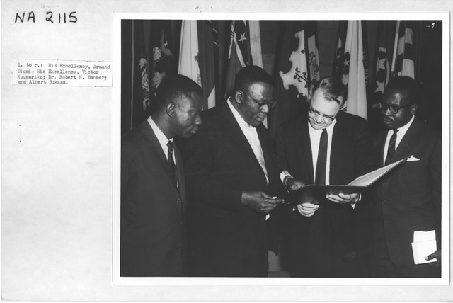 Photograph of Visit of Officials from the Republic of the Congo