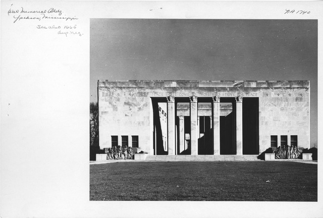 Photograph of War Memorial Building in Jackson, Mississippi