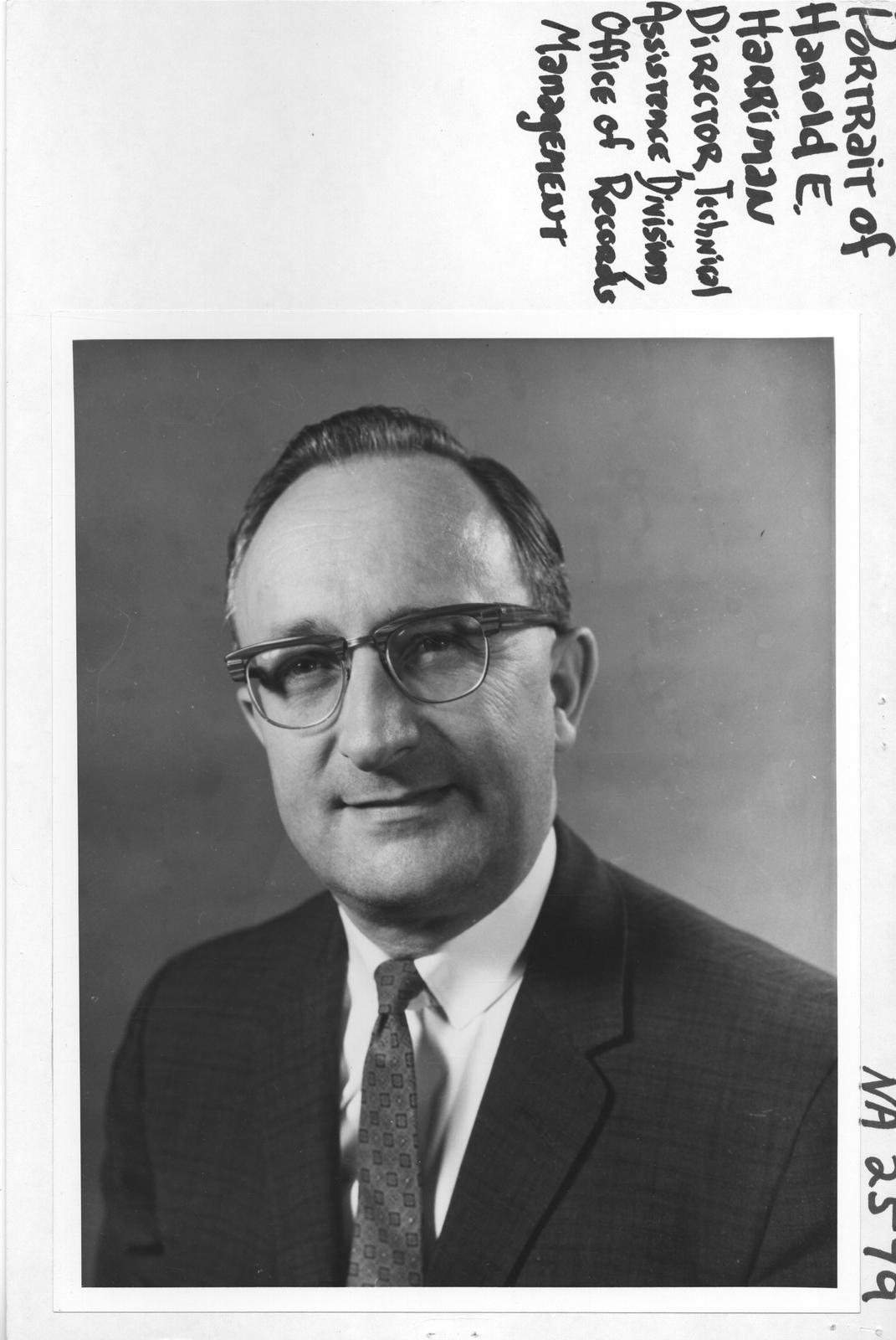 Portrait of Harold E. Harriman