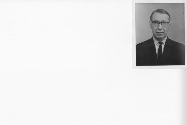 Portrait Photograph of Dr. Leo Kahn, Principal Archivist, Imperial War Museum, London