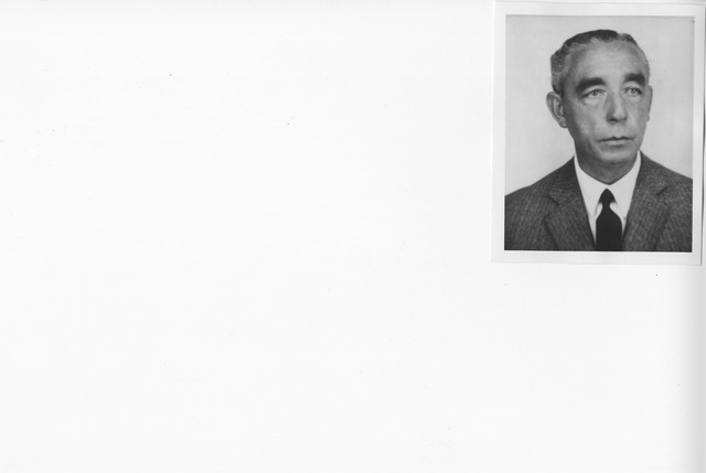 Portrait Photograph of Luis Silveira, Inspector General of the Archives and Libraries of Portugal