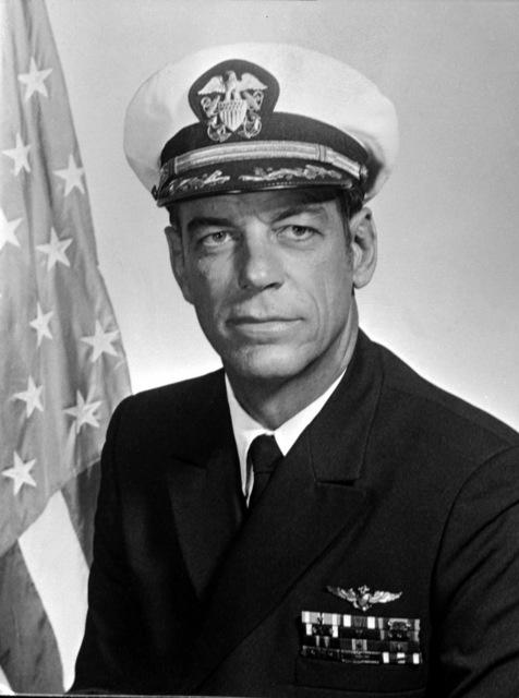 CAPT. Douglas R. McCrimmon, USN (covered) CO, USS RANGER (CV-61), 1976-1977