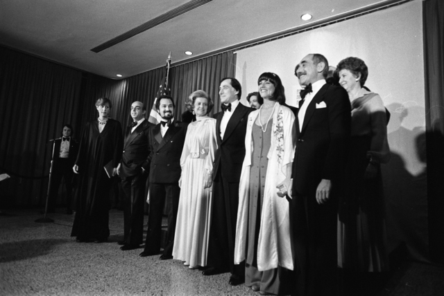 Photograph of First Lady Betty Ford with Designers at the Parsons School of Design Fashion Critics Award Show