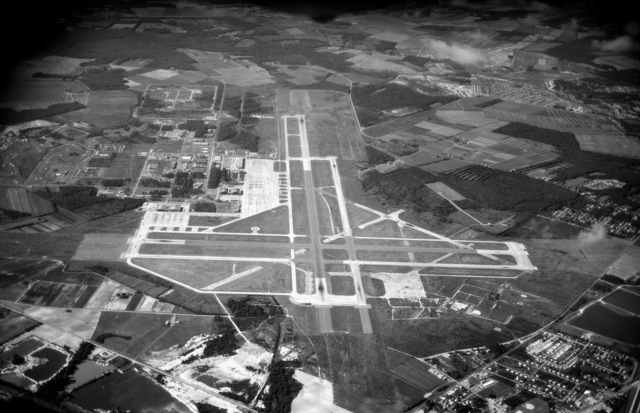 An aerial view of Naval Air Station, Oceana