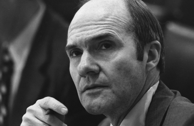 Photograph of National Security Advisor Brent Scowcroft Listening Intently during a Meeting to Discuss the Situation in Lebanon