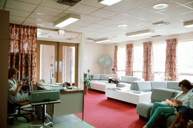The reception room at the medical department activity (MEDDAC) health services buildings