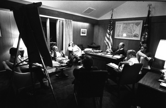 White House Chief of Staff Dick Cheney Comments during a Campaign Strategy Session at Camp David