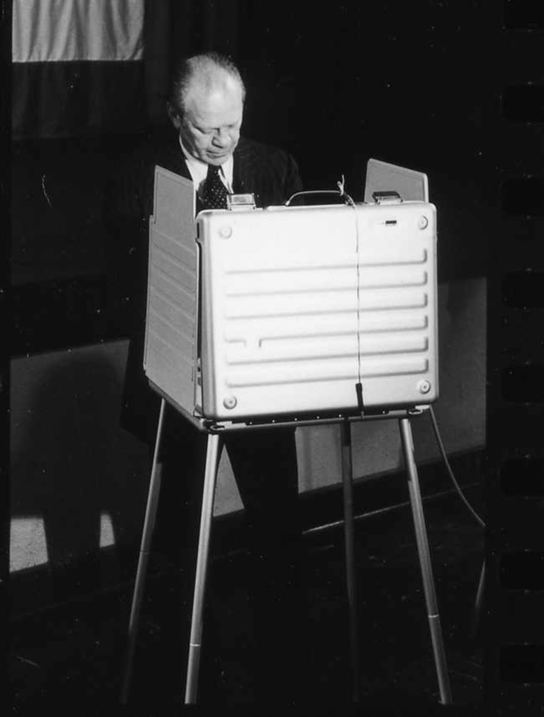 Photograph of President Gerald Ford Voting in the 1976 General Election in Grand Rapids, Michigan