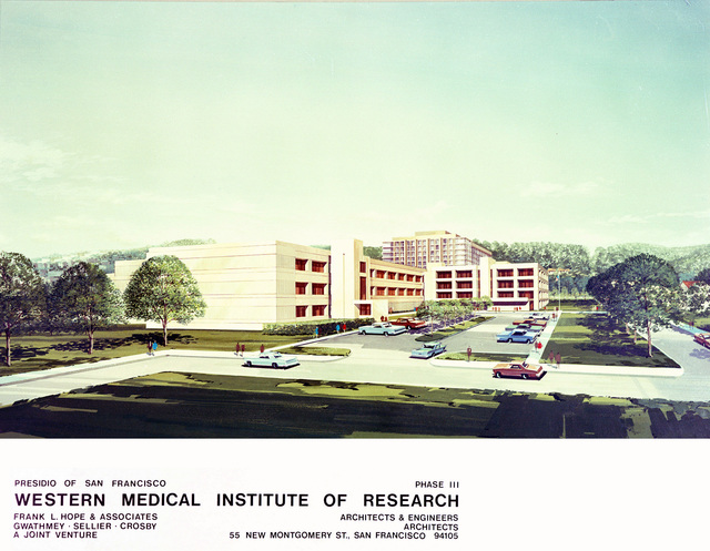 Copy of artist's conception of the Western Medical Institue of Research at the Presidio