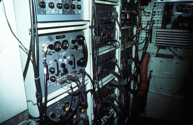 A MRC-69 radio terminal set in use during arctic training exercise Jack Frost '77