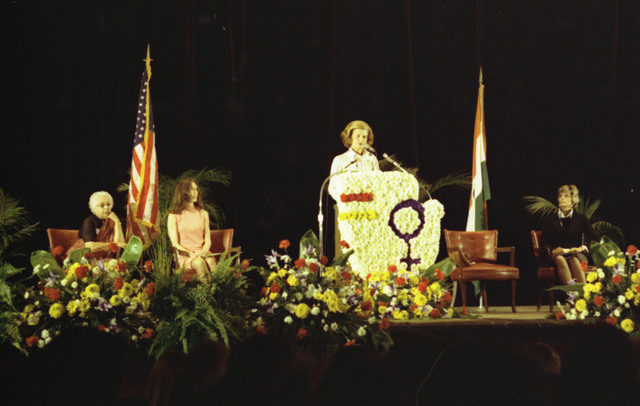 First Lady Betty Ford Making Remarks at the Greater Cleveland Congress of International Women's Year (IWY) in Cleveland, Ohio