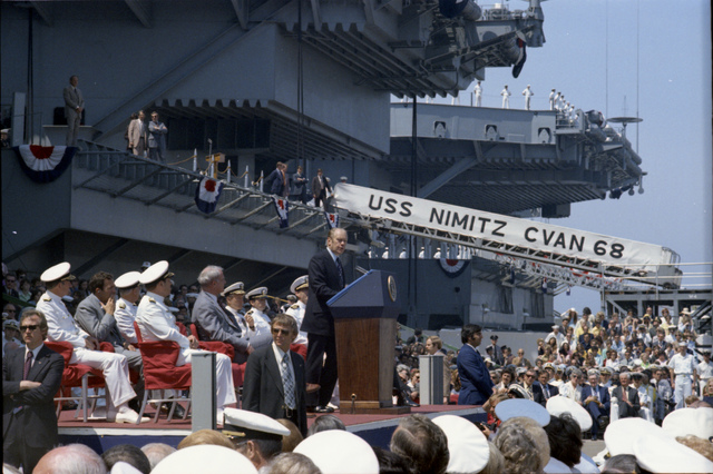 President Gerald R. Ford Delivering Remarks at the Commissioning Ceremony for the USS Nimitz in Norfolk, Virginia