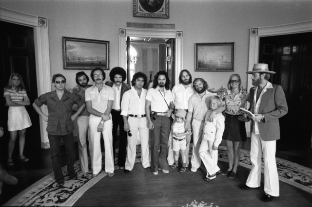 Susan Ford with the Beach Boys and Others at the White House