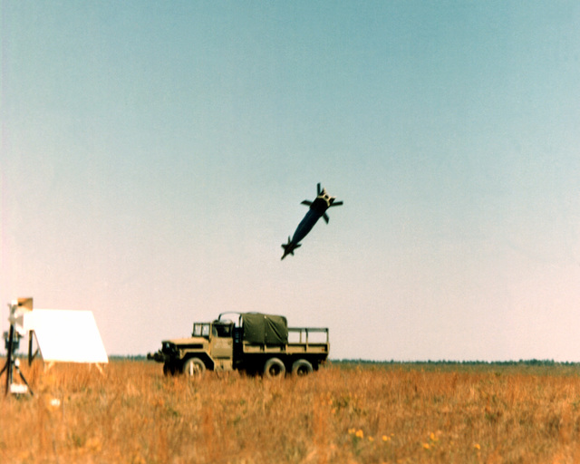 Mark 84 (GBU-10) laser-guided bomb homes in on its truck target during demonstrations