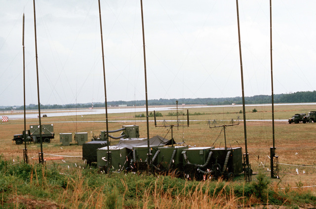 A mobile communications station in use during joint readiness training exercise SOLID SHIELD '77