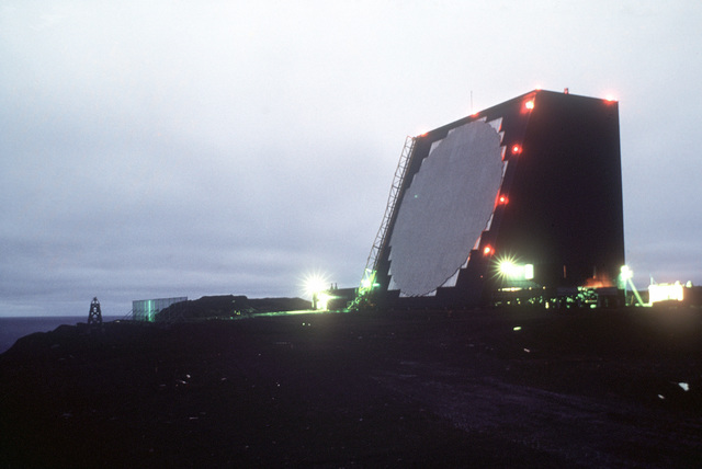 A view of COBRA DANE, an intelligence-gathering phased array radar system specially constructed to monitor Soviet ballistic missile testing on Siberia's Kamchatka Peninsula