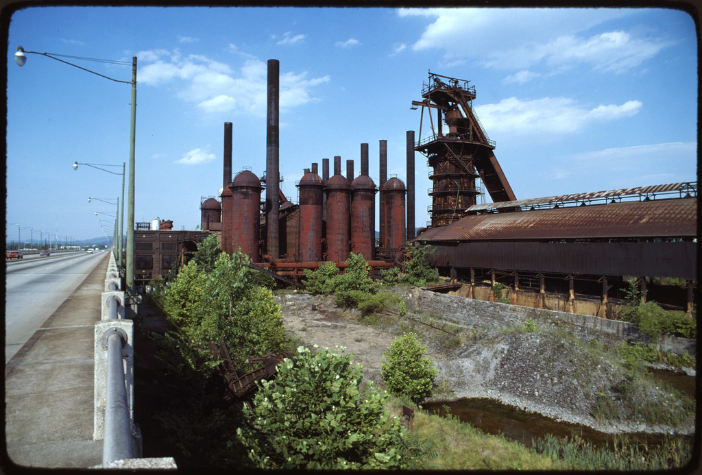 US Pipe Co. Plant, Birmingham, Closed by EPA, View from 1st Ave., No. Overpass. Plant Now Owned by City of Birmingham, Alabama, May be Turned into a Museum