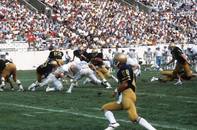 The United States Naval Academy football team plays at the United States Navy-Marine Corps Memorial Stadium