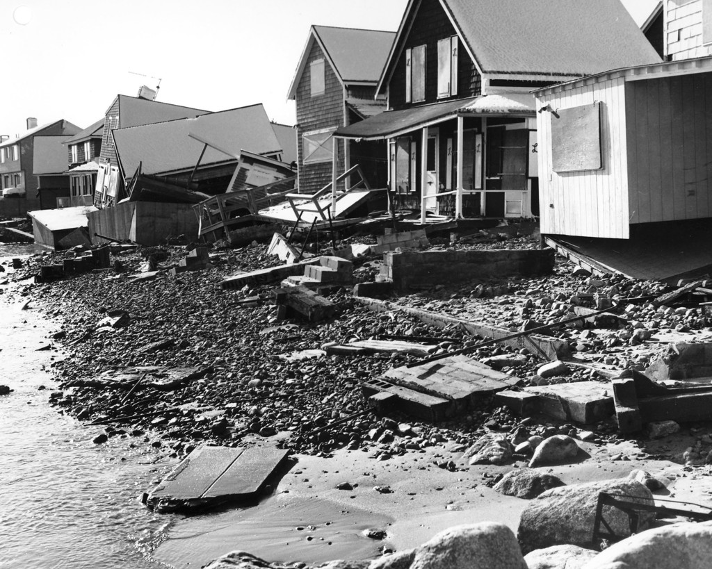 Damaged Houses in Scituate Harbor in Scituate, Massachusetts from the Blizzard of 1978