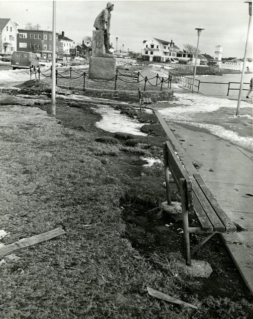 Boulevard Snow Damage Gloucester, Massachusetts