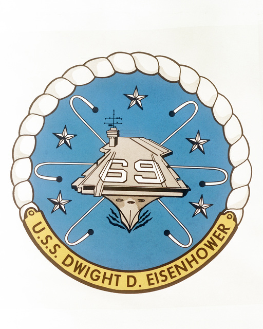 The seal of the nuclear-powered aircraft carrier USS DWIGHT D. EISENHOWER (CVN 69)